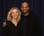"""Rachel Bay Jones and Brandon Victor Dixon during the press rehearsal for Kennedy Center's Broadway Center Stage production of  """"Next To Normal""""  at The New 42nd Street Studios  on January 16, 2020 in New York City."""
