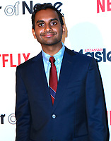 www.acepixs.com<br /> <br /> May 11 2017, New York City<br /> <br /> Comedian Aziz Ansari arriving at the premiere of  'Master Of None' Season 2 premiere at SVA Theatre on May 11, 2017 in New York City.<br /> <br /> By Line: Nancy Rivera/ACE Pictures<br /> <br /> <br /> ACE Pictures Inc<br /> Tel: 6467670430<br /> Email: info@acepixs.com<br /> www.acepixs.com