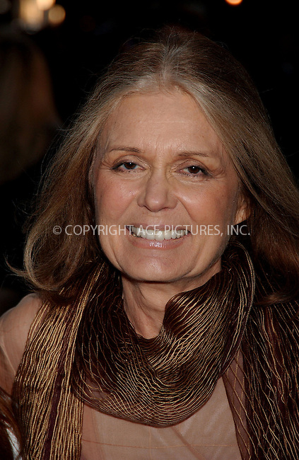 WWW.ACEPIXS.COM . . . . .....May 8, 2007. New York City,....Gloria Steinem arrives at the 'Georgia Rule' premiere at the Ziegfeld Theatre...  ....Please byline: Kristin Callahan - ACEPIXS.COM..... *** ***..Ace Pictures, Inc:  ..Philip Vaughan (646) 769 0430..e-mail: info@acepixs.com..web: http://www.acepixs.com