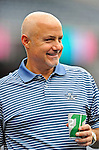 19 June 2011: Washington Nationals' General Manager Mike Rizzo watches batting practice prior to a game between the Baltimore Orioles and the Washington Nationals at Nationals Park in Washington, District of Columbia. The Orioles defeated the Nationals 7-4 in inter-league play, ending Washington's 8-game winning streak. Mandatory Credit: Ed Wolfstein Photo