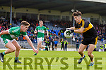 Tony Brosnan Dr Crokes in action against Rob Leen Legion in the Quarter Final of the Kerry Senior Football Championship between Dr Crokes and Legion at Fitzgerald Stadium Killarney on Sunday.