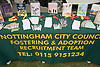 The Nottingham City Fostering and Adoption Recruitment team's stand at Nottingham's 2005 Gay Pride Lesbian festival; held at the Arboretum,