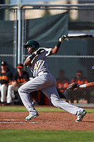 Oakland Athletics Eric Marinez (21) during an instructional league game against the San Francisco Giants on October 12, 2015 at the Giants Baseball Complex in Scottsdale, Arizona.  (Mike Janes/Four Seam Images)