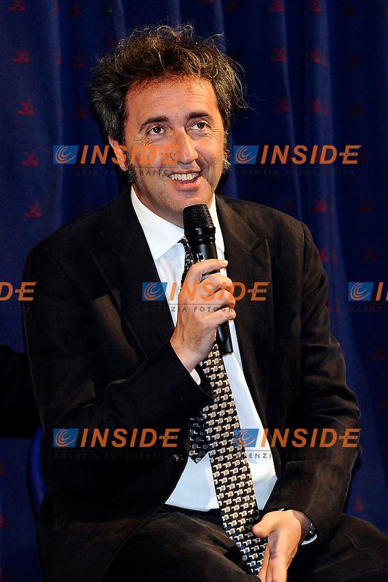 Paolo Sorrentino Lezioni sul Cinema .Milano 28/05/2013 Cinema Anteo .foto Andrea Ninni/Image/Insidefoto.