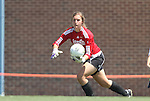 28 August 2011: Notre Dame's Sarah Vogt. The Duke University Blue Devils defeated the Fighting Irish of Notre Dame 3-1 at Fetzer Field in Chapel Hill, North Carolina in an NCAA Women's Soccer game.