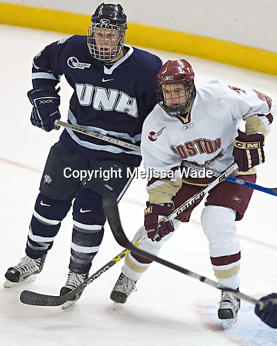 Craig Switzer, Dan Bertram - The Boston College Eagles and University of New Hampshire earned a 3-3 tie on Thursday, March 2, 2006, on Senior Night at Kelley Rink at Conte Forum in Chestnut Hill, MA.  Boston College honored its three seniors, captain Peter Harrold and alternate captains Chris Collins and Stephen Gionta, before the game.