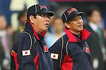 (L to R)  Koji Yamamoto (JPN),  Kazuyoshi Tatsunami (JPN), .February 26, 2013 - WBC : .2013 World Baseball Classic, Exhibithion Game .match between Japan 0-1 Hanshin Tigers  .at Kyocera Dome, Osaka, Japan..(Photo by AJPS/AFLO SPORT)