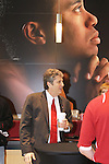 "Mike Leach, Washington State head football coach, talks with Cougar fans at the ""Night with Cougar Football"" at the Tiger Woods Center at Nike headquarters in Beaverton, Oregon, on March 4, 2012."