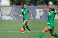 8 November 2015:  Marshall Midfielder Adela Trevino (7) advances the ball in the first half as the University of North Texas Mean Green defeated the Marshall University Thundering Herd, 1-0, in the Conference USA championship game at University Park Stadium in Miami, Florida.