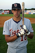 August 14, 2003:  Tony Giarratano of the Oneonta Tigers, Class-A affiliate of the Detroit Tigers, during a NY-Penn League game at Falcon Park in Auburn, NY.  Photo by:  Mike Janes/Four Seam Images