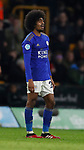 Hamza Chodhury of Leicester City reacts after being shown the red card during the Premier League match at Molineux, Wolverhampton. Picture date: 14th February 2020. Picture credit should read: Darren Staples/Sportimage