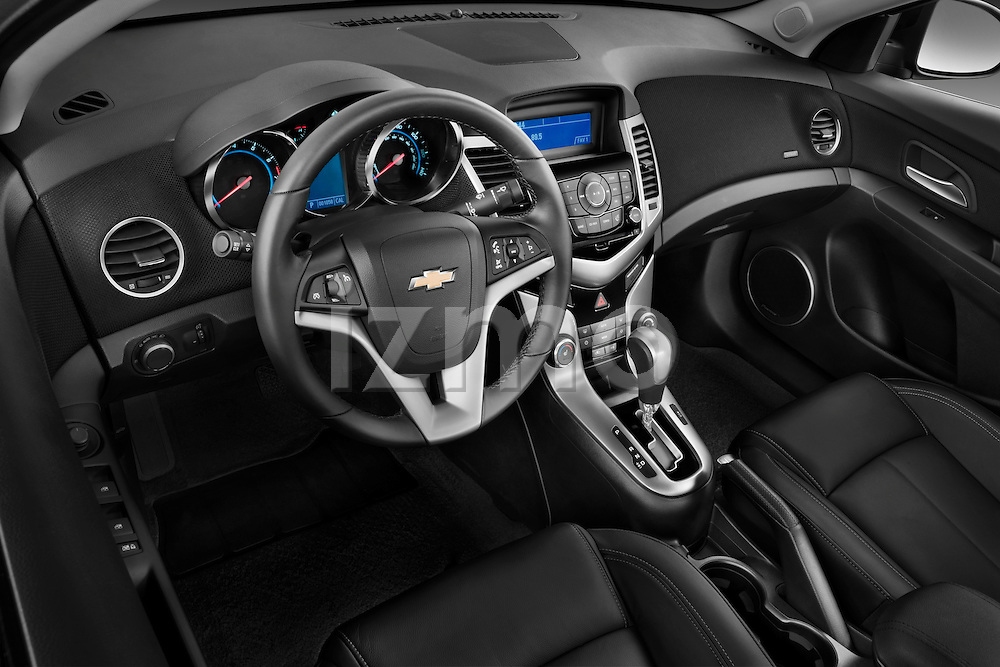 High angle dashboard view of a 2011 Chevrolet Cruze