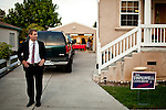 Democratic congressional challenger Eric Swalwell waits outside a campaign house party in Castro Valley, Calif., September 21, 2012.