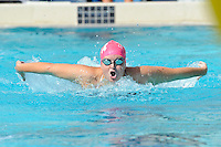 5 November 2011:  FIU's Alice Horton competes in the 200 yard butterfly as the FIU Golden Panthers won the meet with the Florida Atlantic University Owls and Florida Southern Moccasins at the Biscayne Bay Campus Aquatics Center in Miami, Florida.
