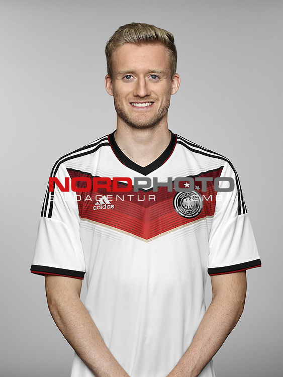 ST. MARTIN IN PASSEIER, ITALY - MAY 24:  In this handout image provided by German Football Association (DFB) Andre Schuerrle of team Germany poses for a picture on May 24, 2014 in St. Martin in Passeier, Italy.  Foto © nph / Hangout *** Local Caption *** Andre Schuerrle