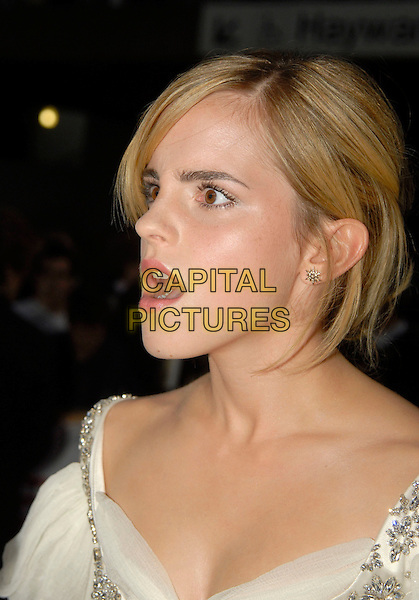 EMMA WATSON .Attending the National Movie Awards 2008 held at The Royal Festival Hall, London, England, 8th September 2008. .portrait headshot  funny profile mouth open .CAP/IA.©Ian Allis/Capital Pictures