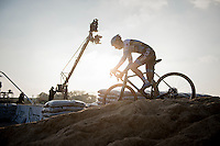 Kevin Pauwels (BEL/Marlux-NapoleonGames) on top of the sand dune<br /> <br /> Elite Men's Race<br /> Soudal Jaarmarktcross Niel 2016