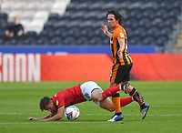 Hull City's George Honeyman battles with Crew Alexandra's Ryan Wintle<br /> <br /> Photographer Dave Howarth/CameraSport<br /> <br /> The EFL Sky Bet League One - Hull City v Crewe Alexandra - Saturday 19th September 2020 - KCOM Stadium - Kingston upon Hull<br /> <br /> World Copyright © 2020 CameraSport. All rights reserved. 43 Linden Ave. Countesthorpe. Leicester. England. LE8 5PG - Tel: +44 (0) 116 277 4147 - admin@camerasport.com - www.camerasport.com
