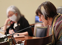 """United States Representative Rosa DeLauro (Democrat of Connecticut) speaks as Director of the Centers for Disease Control and Prevention Robert Redfield testifies during a United States House Labor, Health and Human Services, Education and Related Agencies Subcommittee holds a hearing on """"COVID-19 Response on Capitol Hill in Washington, DC on Thursday, June 4, 2020. <br /> Credit: Tasos Katopodis / Pool via CNP/AdMedia"""