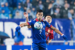 Suwon Forward Johnathan Da Silva Vilela (L) fights for the ball with Guangzhou Defender Wang Shangyuan (R) during the AFC Champions League 2017 Group G match Between Suwon Samsung Bluewings (KOR) vs Guangzhou Evergrande FC (CHN) at the Suwon World Cup Stadium on 01 March 2017 in Suwon, South Korea. Photo by Victor Fraile / Power Sport Images