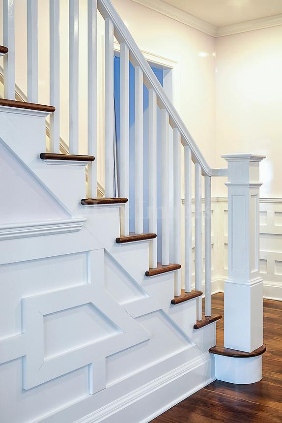 White step stairs