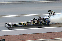 Apr. 7, 2013; Las Vegas, NV, USA: NHRA top fuel dragster driver Khalid Albalooshi during the Summitracing.com Nationals at the Strip at Las Vegas Motor Speedway. Mandatory Credit: Mark J. Rebilas-