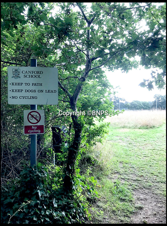 "BNPS.co.uk (01202 558833)<br /> Pic: BNPS<br /> <br /> The current footpath runs through the school's land.<br /> <br /> A prestigious private school wants a public footpath that runs across its land diverted due to the amount of dogs' mess left on its immaculate playing fields.<br /> <br /> Bosses at £30,000 a year Canford School in Dorset have also cited concerns for the safety of ramblers being hit by stray golf balls as the path runs close to its golf course.<br /> <br /> They have applied to the local council to reroute the long-established path off their land altogether.<br /> <br /> One objector said: ""The level of pettiness and entitlement is unreal."""