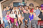 Dervala Murphy Castleisland seated centre who celebrated her 18th birthday with her family and friends in the Shoemakers bar Castleisland on Saturday night..