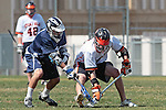 Beverly Hills, CA 04/12/10 - unidentified Loyola player and Ryan Lockhart (Beverly Hills # 4) in action during the Loyola-Beverly Hills Boys Varsity Lacrosse game at Beverly Hills High School, Loyola defeated Beverly Hills 16-0.