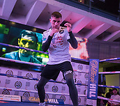 4th October 2017, National Football Museum, Manchester, England; Anthony Crolla and Ricky Burns public workout session; Ricky Burns shadow boxes during his training session