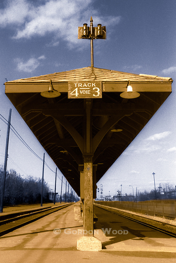 Old Time Railway Platform - Colourized from a black and white negative