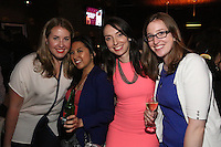 Ashley Ainesworth, Christina Nasol, Susan Giovanoni and Courtney Donahue attend Happy Groups Launch Party at the Luxe Lounge at Lucky Strike, on May 22 in New York City.