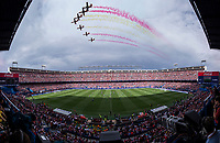 Last match of Atletico de Madrid at Vicente Calderon Stadium