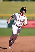 Mesa Solar Sox infielder Tony Renda (7) during an Arizona Fall League game against the Surprise Saguaros on October 17, 2014 at Cubs Park in Mesa, Arizona.  Mesa defeated Mesa 5-3.  (Mike Janes/Four Seam Images)