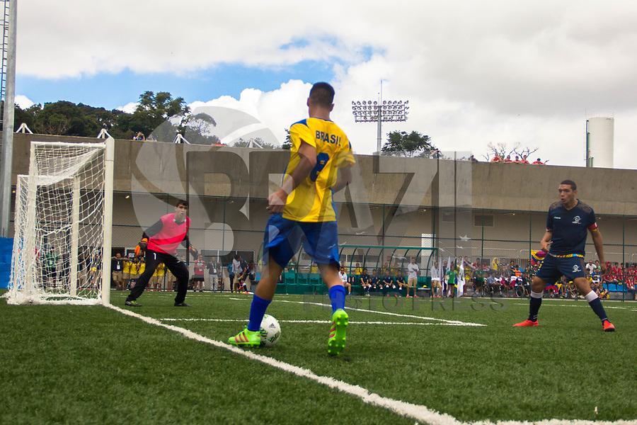 SÃO PAULO,SP, 20.03.2017 - PARAPAN-JUVENTUDE - futebol de 7 - Brasil (2) e Colombia (01) durante jogo no CT Paralímpico Brasileiro, no Parapan da Juventude em São Paulo nesta segunda-feira, 20. (Foto: Danilo Fernandes/Brazil Photo Press)