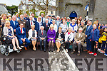 President Higgins and his wife Sabina sit the members of the Listowel Tidy Towns Committee on Saturday morning