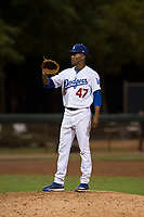 AZL Dodgers relief pitcher Jose Hernandez (47) during an Arizona League game against the AZL White Sox at Camelback Ranch on July 3, 2018 in Glendale, Arizona. The AZL Dodgers defeated the AZL White Sox by a score of 10-5. (Zachary Lucy/Four Seam Images)