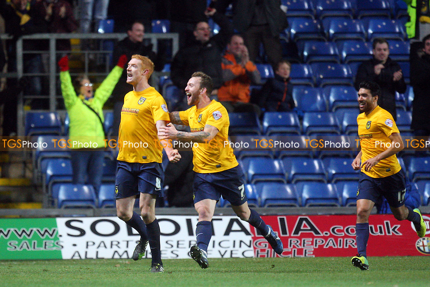 Dave Kitson of Oxford United celebrates scoring the second Oxford goal - Oxford United vs Dagenham and Redbridge, Skybet League Two football at the Kassam Stadium - 14/12/13 - MANDATORY CREDIT: Dave Simpson/TGSPHOTO - Self billing applies where appropriate - 0845 094 6026 - contact@tgsphoto.co.uk - NO UNPAID USE