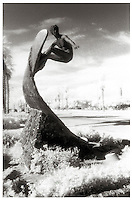 Edmund Shumpert's Bronze Surf Sculpture In Huntington Beach
