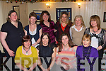 Douglas NS pupils mothers enjoy their annual Christmas party in Bunkers Bar and Restaurant, Killorglin on Friday night front row l-r: Helena Hurley, Irene Heffernan, Natasha Cocquyt, Caroline Foley. Back row: Siobhain O'Connor, Susan Moriarty, Maura Lynch, Kathleen Kelleher, Mary Austridge and Mary Riordan.   Copyright Kerry's Eye 2008