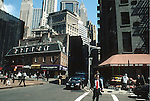 STREET SCENE IN LOWER MANHATTAN
