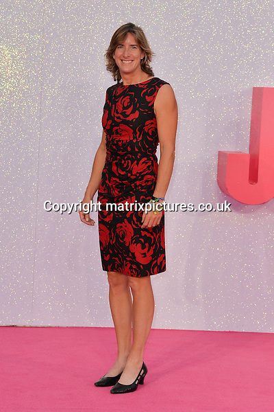 NON EXCLUSIVE PICTURE: MATRIXPICTURES.CO.UK<br /> PLEASE CREDIT ALL USES<br /> <br /> WORLD RIGHTS<br /> <br /> British rower Katherine Grainger attends the world premiere of &quot;Bridget Jones's Baby&quot; at Leicester Square in London.<br /> <br /> SEPTEMBER 5th 2016<br /> <br /> REF: JWN 162864