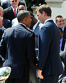 United States President Barack Obama shakes hands with Quarterback Eli Manning following the ceremony welcoming the Super Bowl Champion New York Giants to the White House in Washington, D.C. on Friday, June 8, 2012..Credit: Ron Sachs / CNP.(RESTRICTION: NO New York or New Jersey Newspapers or newspapers within a 75 mile radius of New York City)
