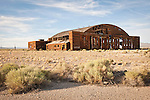 Abandoned WW II-era hanger buildings at the former Tonopah Army Air Field and now Tonopah Airport, Nevada