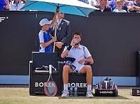 Netherlands, Rosmalen , June 10, 2015, Tennis, Topshelf Open, Autotron, Robin Haase (NED)<br /> Photo: Tennisimages/Henk Koster