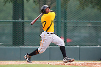 GCL Pirates third baseman Yhonathan Barrios #17 at bat during a game against the GCL Braves at Disney Wide World of Sports on June 25, 2011 in Kissimmee, Florida.  The Pirates defeated the Braves 5-4 in ten innings.  (Mike Janes/Four Seam Images)