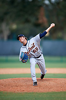 Detroit Tigers pitcher Max Green (65) delivers a pitch during an Instructional League game against the Atlanta Braves on October 10, 2017 at the ESPN Wide World of Sports Complex in Orlando, Florida.  (Mike Janes/Four Seam Images)