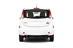 Straight rear view of 2014 Mitsubishi i MIEV 5 Door Hatchback stock images