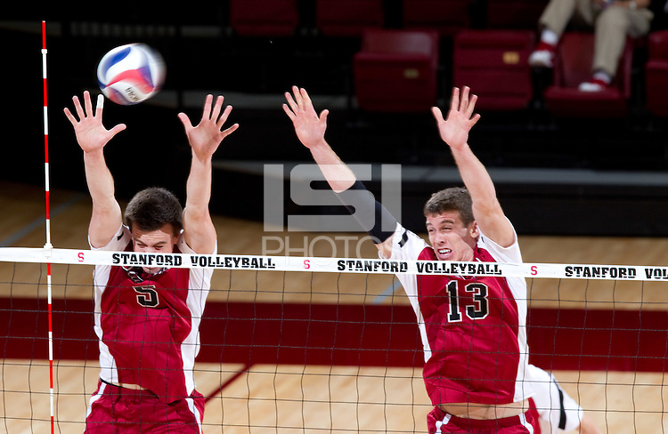 STANFORD, CA - Tuesday, April 3, 2012:  Stanford men's volleyball vs. Pacific at Maples Pavilion. Stanford won, 25-15, 24-19, 25-18.