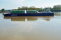 barge on the gironde with fuselage Airbus A380 bordeaux france